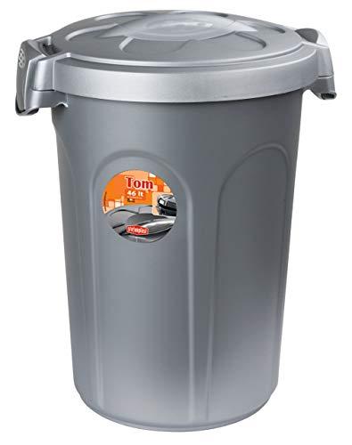 Kerbl 82269 Stefanplast Tom Tonne mit Deckle, Kunststoff, 46 Liter