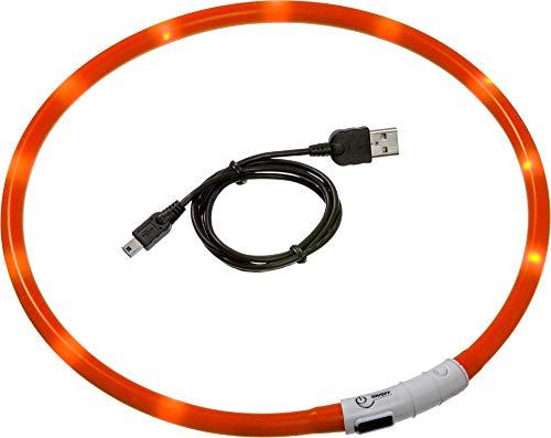 Karlie Visio Light LED Schlauchhalsband L: 20 - 70 cm orange