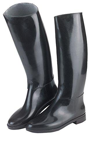 Covalliero Kerbl Reitstiefel Hippo aus Kunststoff, mit Sporenhalterung, schwarz, Größe 38